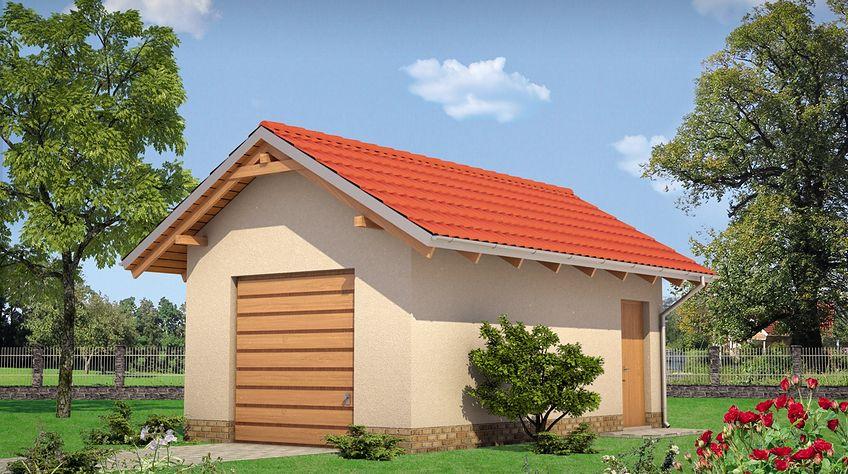 Zdjęcie 1 projektu Garaż 33 - murowana – ceramika KRD2298