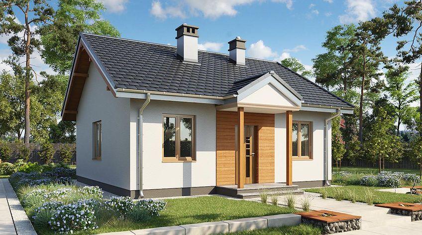 Zdjęcie 1 projektu Miniatura - murowana – beton komórkowy KRD2132