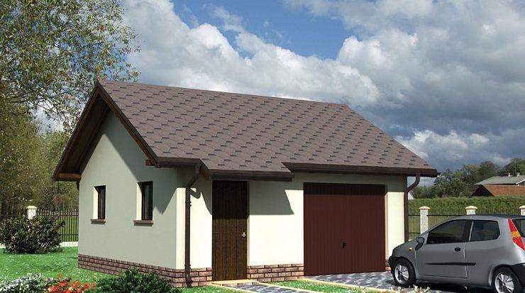 Zdjęcie 1 projektu Garaż 17 - murowana – beton komórkowy KRD1430