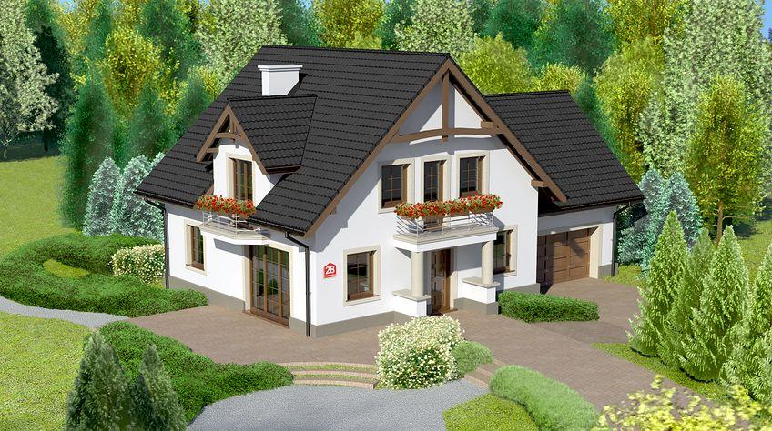 Zdjęcie 1 projektu Dom przy Cyprysowej 28 KRK1266