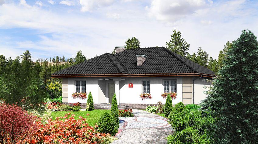 Zdjęcie 1 projektu Dom przy Łabędziej KRK1059