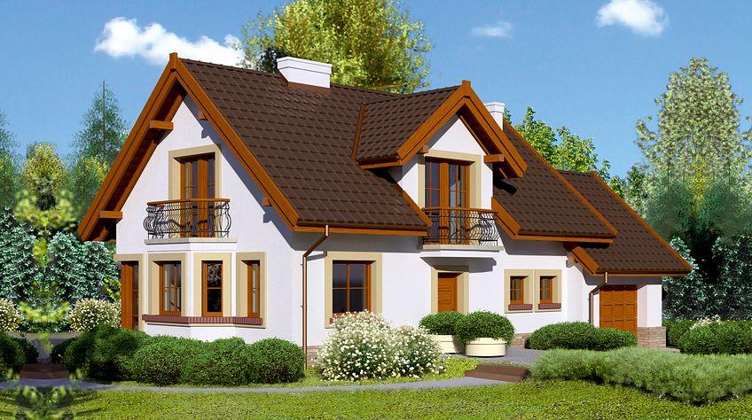 Zdjęcie 1 projektu Dom przy Modrzewiowej 11 KRK1276