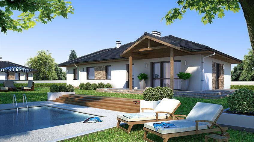 Zdjęcie 1 projektu Dom w Luizjanie 3 z garażem KRN1055