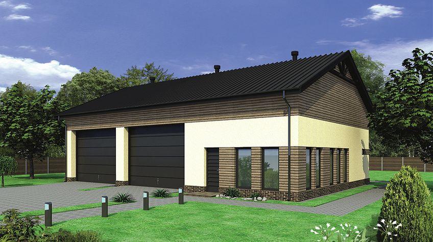 Zdjęcie 1 projektu Murator GMC30 Budynek garażowo-magazynowy z pom. pomocniczymi WAJ2906