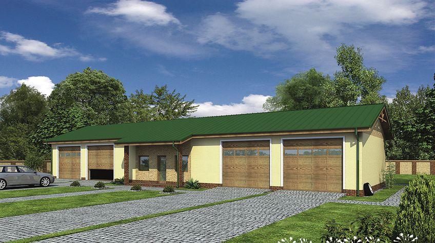 Zdjęcie 1 projektu Murator GMC32 Budynek garażowo-magazynowy z pom. pomocniczymi WAJ2908