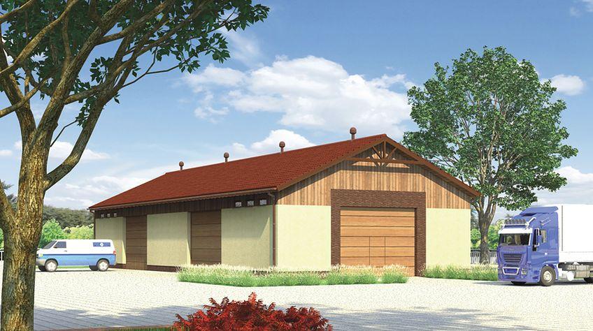 Zdjęcie 1 projektu Murator GMC15 Budynek garażowo-magazynowy WAJ2984
