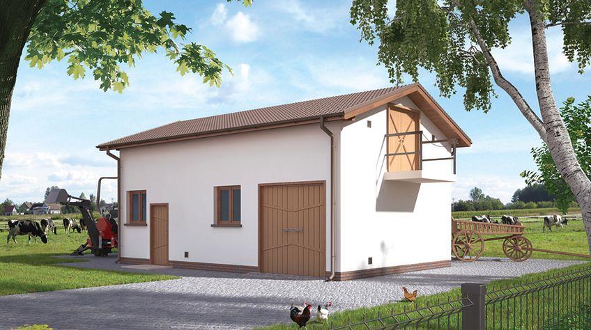 Zdjęcie 1 projektu Murator IGC03 Budynek inwentarsko-gospodarczy WAJ3005
