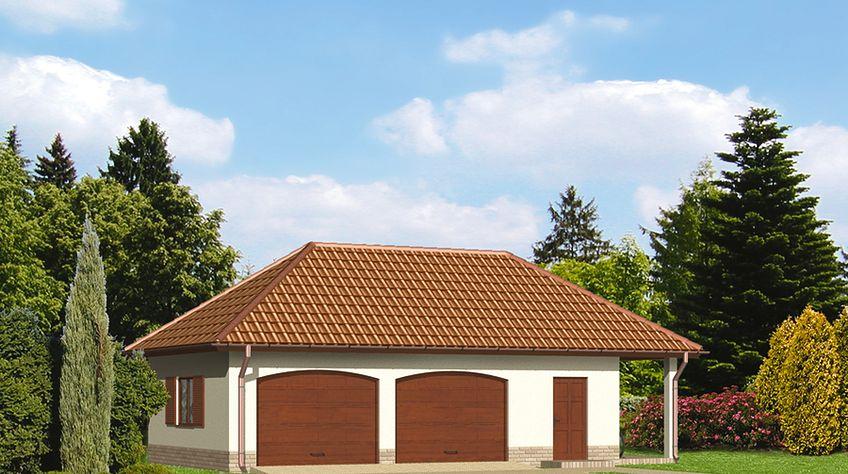 Zdjęcie 1 projektu Murator GC20 Garaż z pomieszczeniem gospodarczym WAJ3182