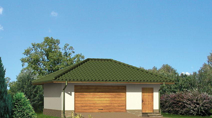 Zdjęcie 1 projektu Murator G14c Garaż z pomieszczeniem gospodarczym WAJ3241