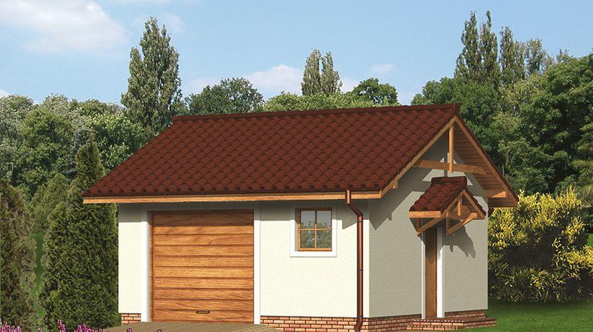 Zdjęcie 1 projektu Murator G28a Garaż WAJ3292