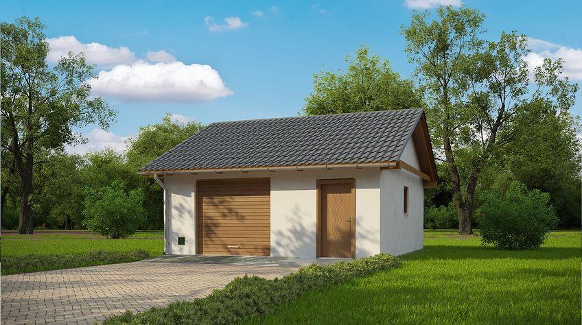 Zdjęcie 1 projektu G180 - Budynek garażowo - gospodarczy PRA1169