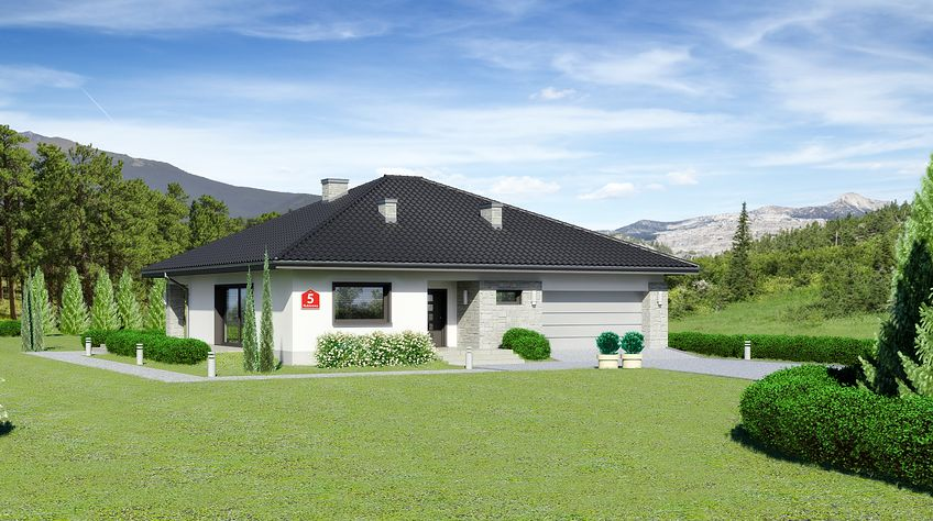 Zdjęcie 1 projektu Dom przy Rubinowej 5 KRK1480