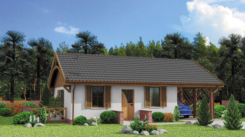 Zdjęcie 1 projektu Awinion C dom mieszkalny, całoroczny szkielet drewniany SLN2657