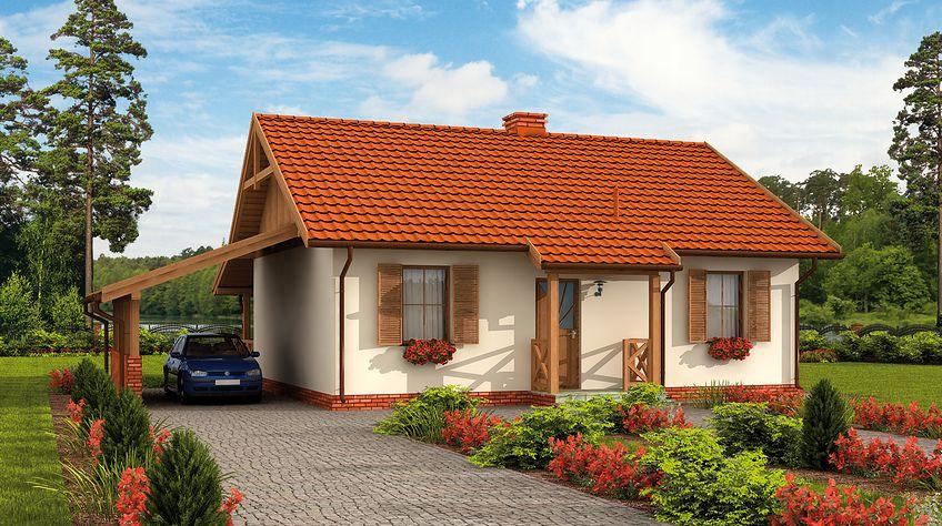 Zdjęcie 1 projektu Barbados 2 C dom mieszkalny, całoroczny szkielet drewniany SLN2666