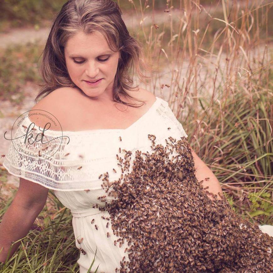 Bardzo dobra Pszczelarz z zamiłowania - Ciążowa sesja zdjęciowa z pszczołami KJ37