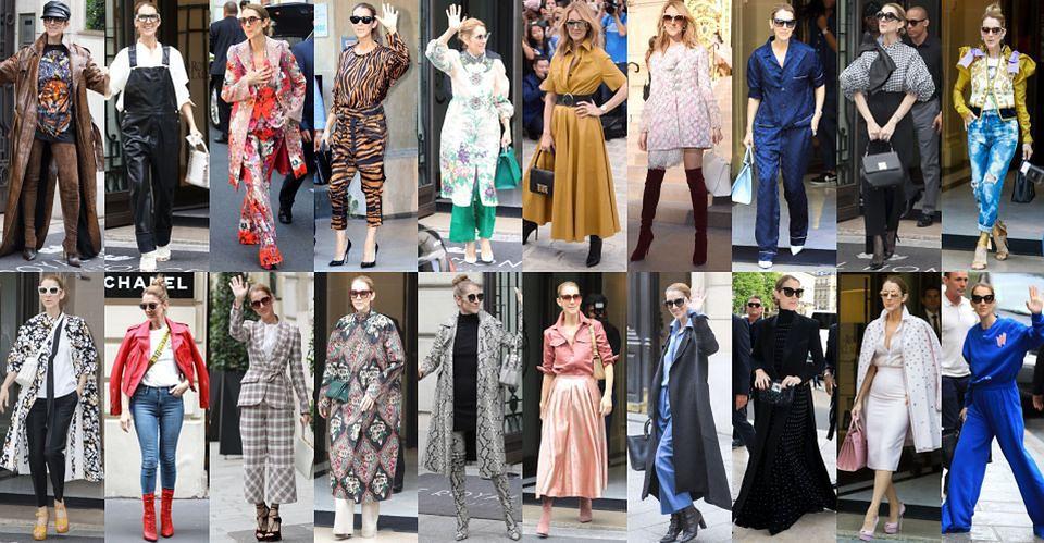 2Wszystkie paryskie stylizacje Celine Dion