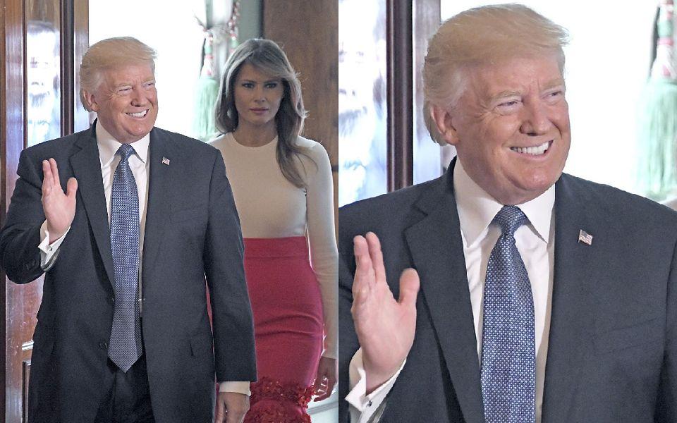 2Donald Trump wygłosił krótkie przemówienie