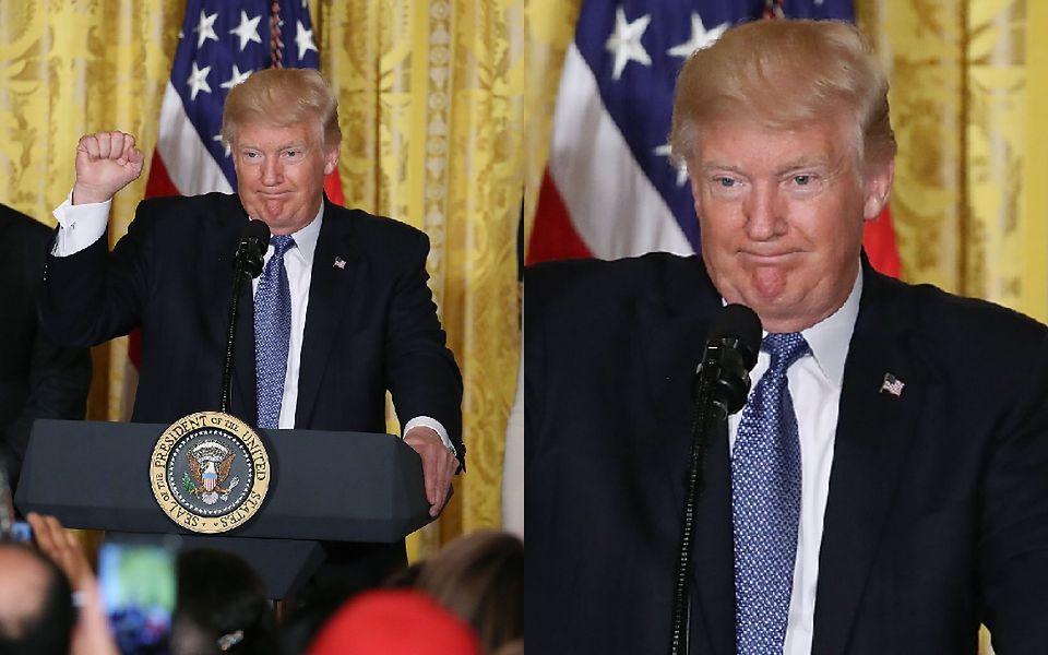 2Donald Trump na spotkaniu z latynoskimi rodzinami w Białym Domu