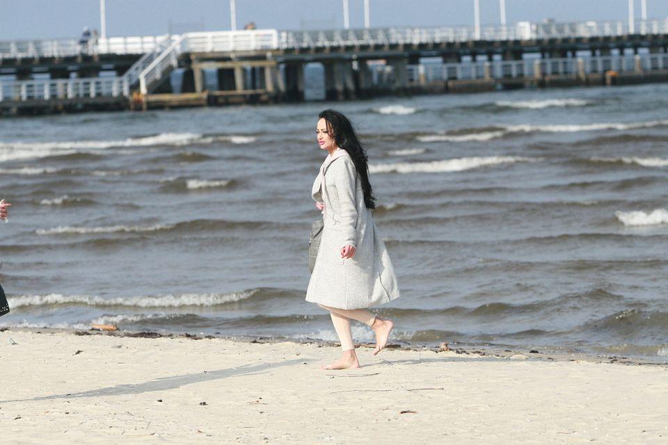 2Siostra Godlewska na plaży w Sopocie