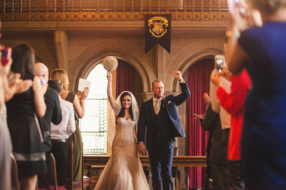 Tak Wyglądał ślub Największych Fanów Harryego Pottera Zdjęcia