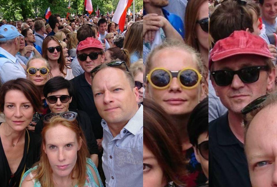 2Maja Ostaszewska, Magdalena Cielecka, Andrzej Chyra i Maciej Stuhr z żoną