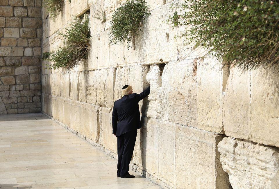 Donald Trump Modli Sie Pod Sciana Placzu W Jerozolimie Zdjecia