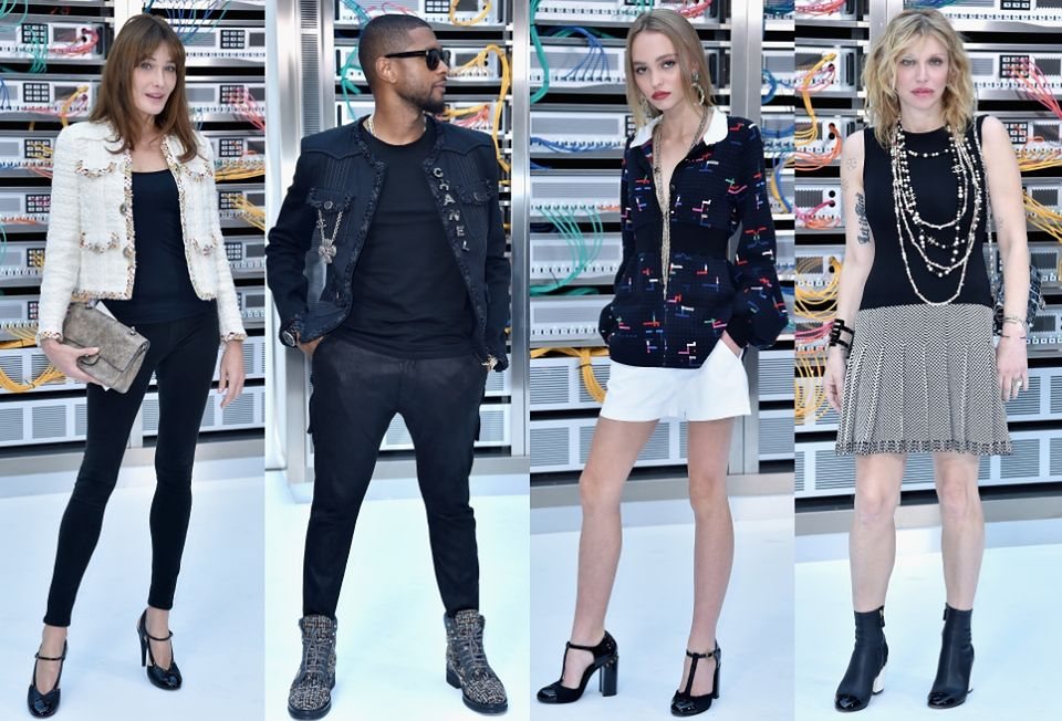 2Carla Bruni, Usher, Lily-Rose Depp, Courtney Love na pokazie Chanel