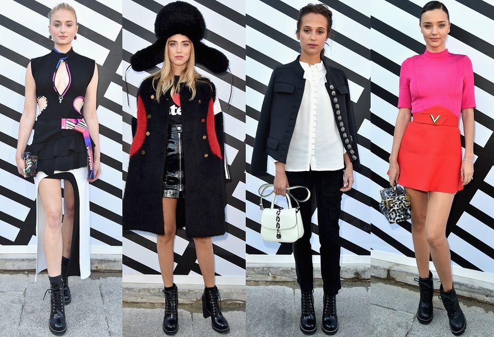 2Sophie Turner, Chiara Ferragni, Miranda Kerr i Alicia Vikander na pokazie Louis Vuitto