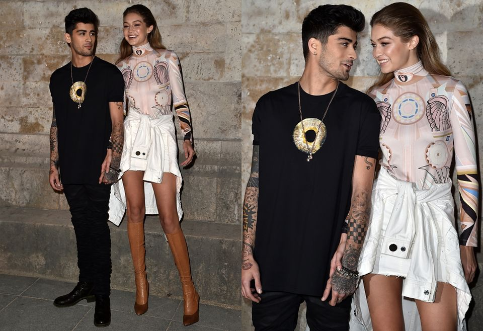 2Zayn Malik i Gigi Hadid na pokazie Givenchy