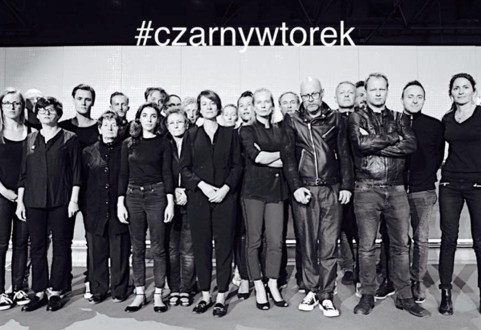 2Maja Ostaszewska, Magdalena Cielecka, Maciej Stuhr, Wojciech Kalarus z ekipą Nowego Teatru