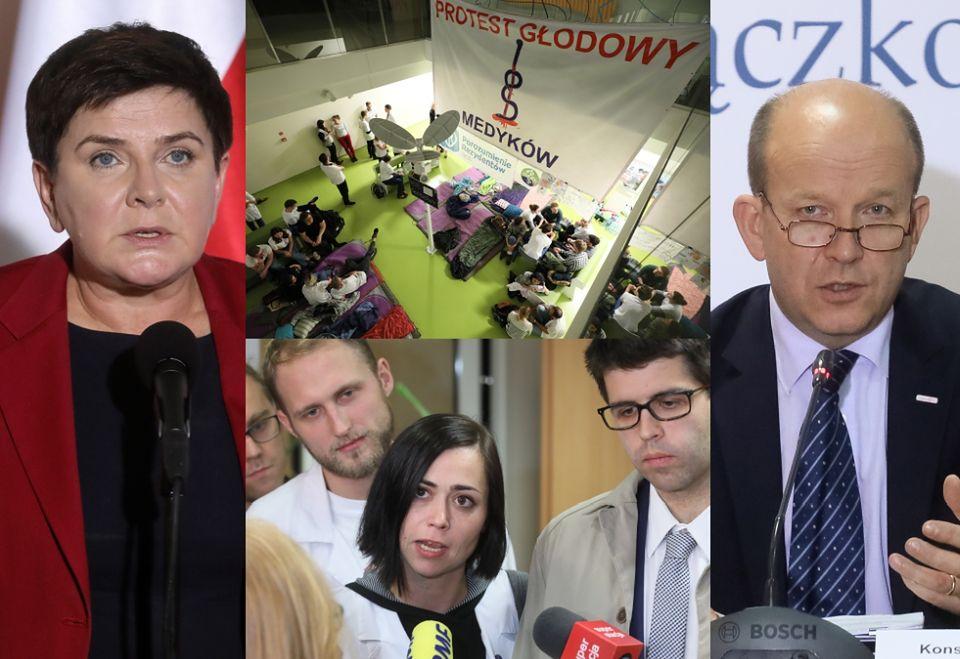 2Beata Szydło i Konstanty Radziwiłł na spotkaniu ze strajkującymi lekarzami