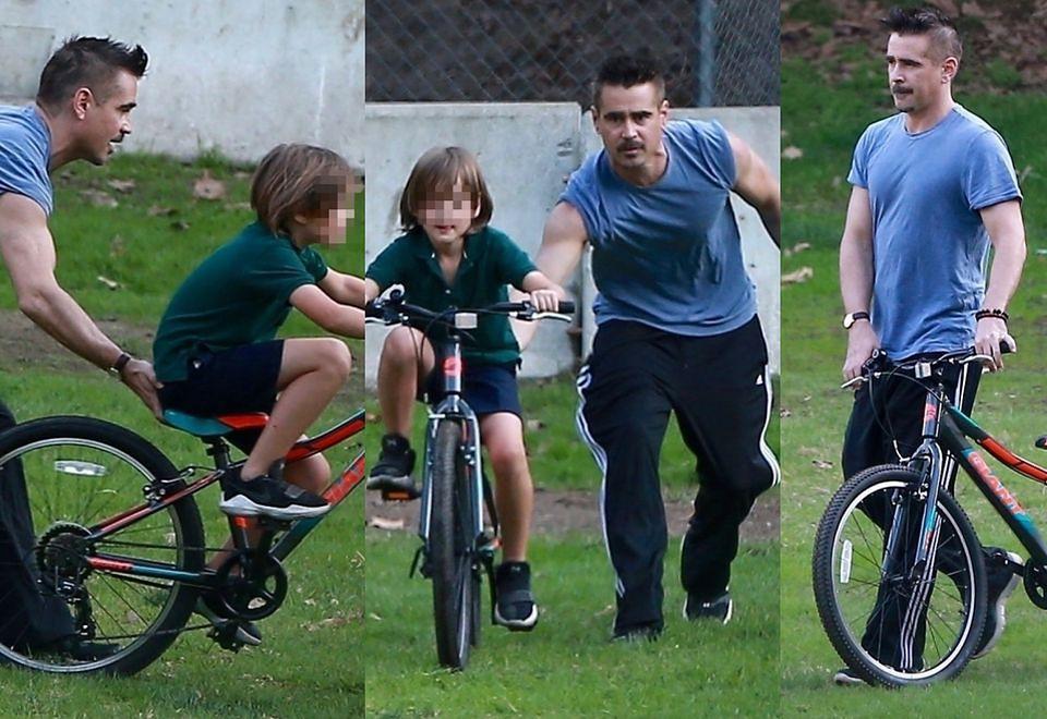 2Colin Farrell uczy Henry'ego Tadeusza jeździć na rowerze!