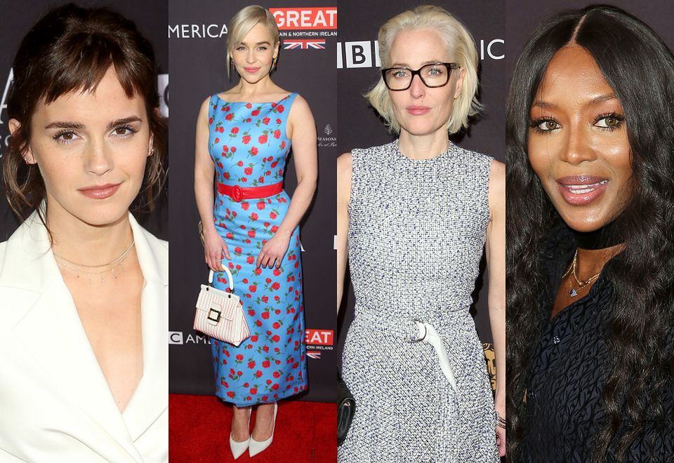 2Emma Watson, Emilia Clarke, Gillian Anderson i Naomi Campbell