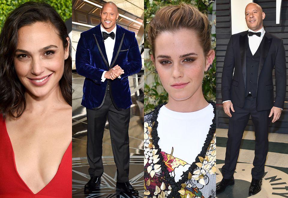 2Gal Gadot, Dwayne Johnson, Emma Watson i Vin Diesel