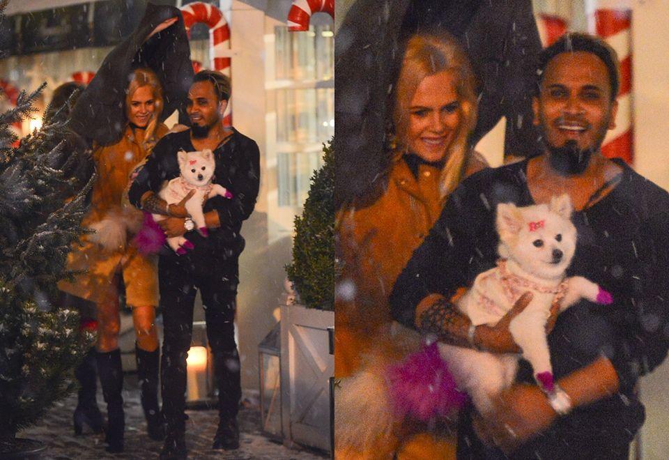 2Żona Hollywood wybrała się na randkę z mężem i psami