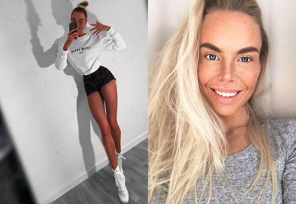 2Szwedzka modelka podbija sieć długimi nogami