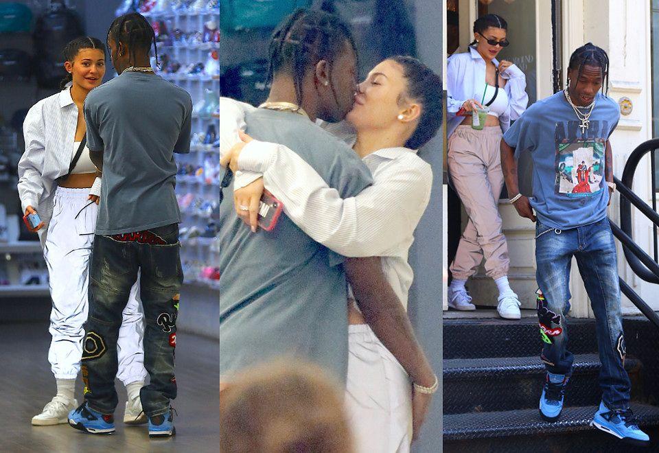 2Kylie Jenner i Travis Scott przytulają się w sklepie