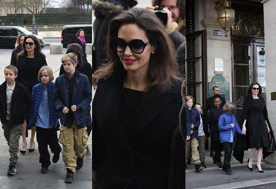2Angelina Jolie zabrała dzieci do Luwru