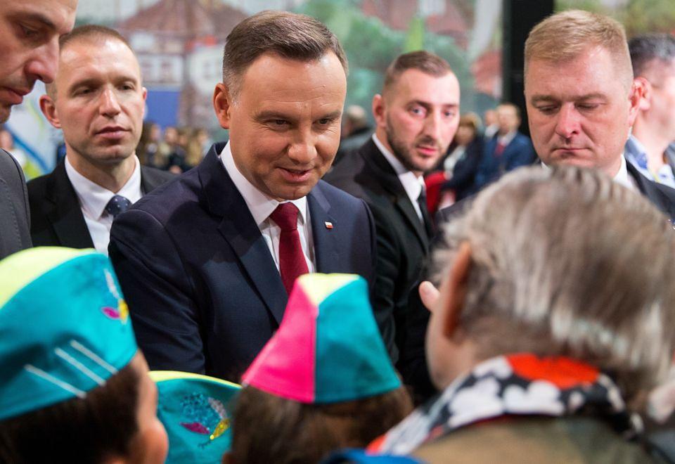 2Andrzej Duda na spotkaniu z mieszkańcami Krapkowic