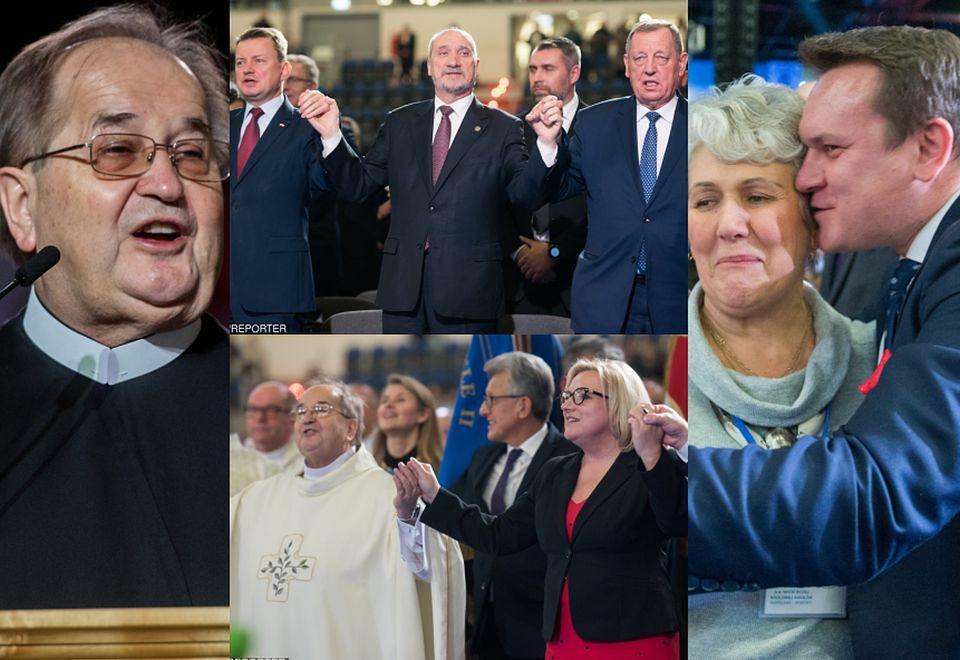 2Tłum polityków PiS na urodzinach Radia Maryja: Macierewicz, Błaszczak i Szyszko trzymają się za ręce i śpiewają...