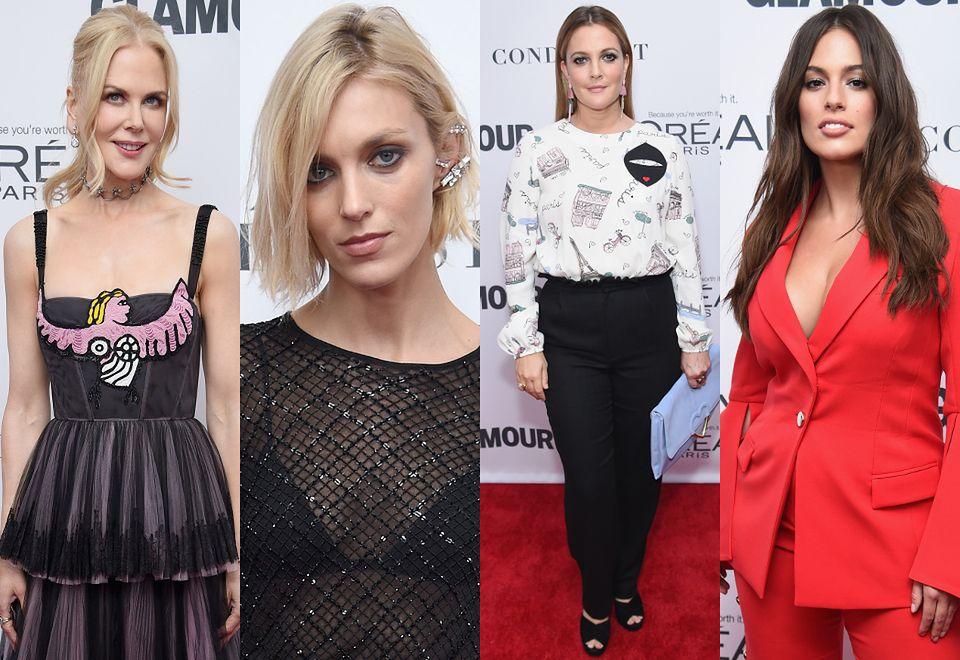 2Nicole Kidman, Anja Rubik, Drew Barrymore i Ashley Graham