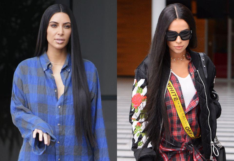 "2Natalia Siwiec w peruce ""na Kim Kardashian"""