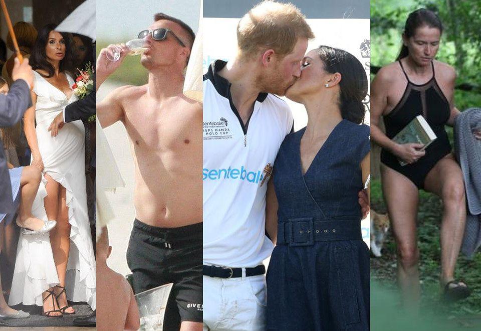 2ZDJĘCIA TYGODNIA: Kaczyńska i Krupińska w sukniach ślubnych, J.Lo i Aniston w bikini, a Peszko z szampanem