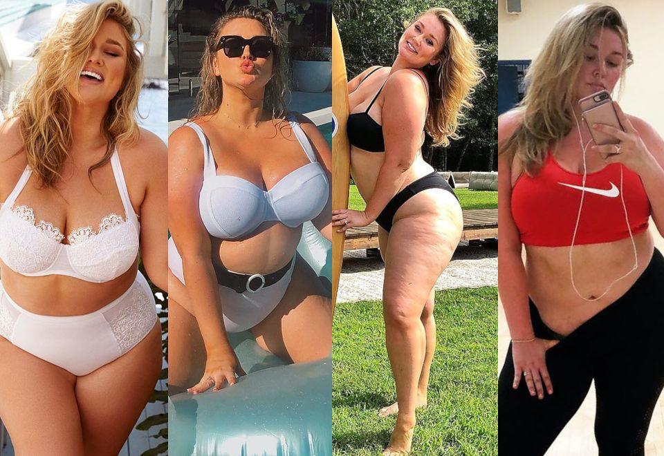 """2Poznajcie Hunter McGrady - modelkę plus size z sesją dla """"Sports Illustrated"""" na koncie, która bardzo lubi się rozbierać"""