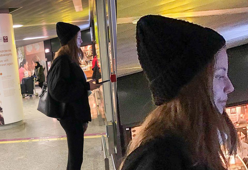 2Frąckowiak przyłapana na lotnisku