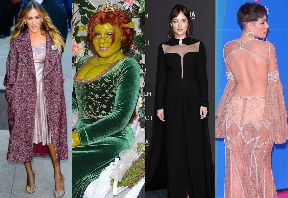2Najciekawsze stylizacje tygodnia: elegancka Sarah Jessica Parker, mroczna Dakota Johnson oraz zzieleniała Heidi Klum