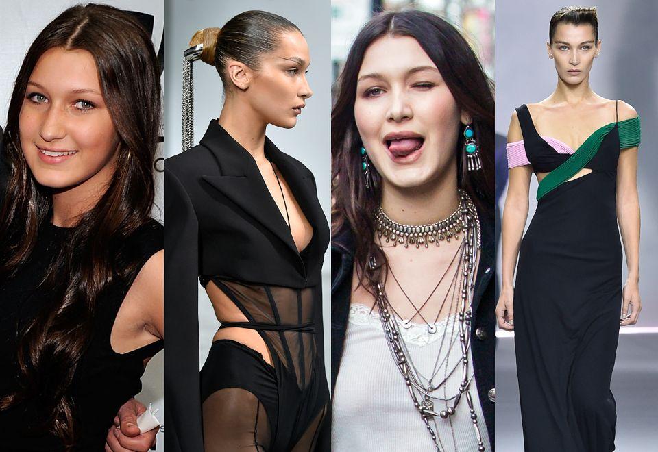 2Bella Hadid obchodzi 23. urodziny! Przypomnijmy drastyczną metamorfozę jej twarzy