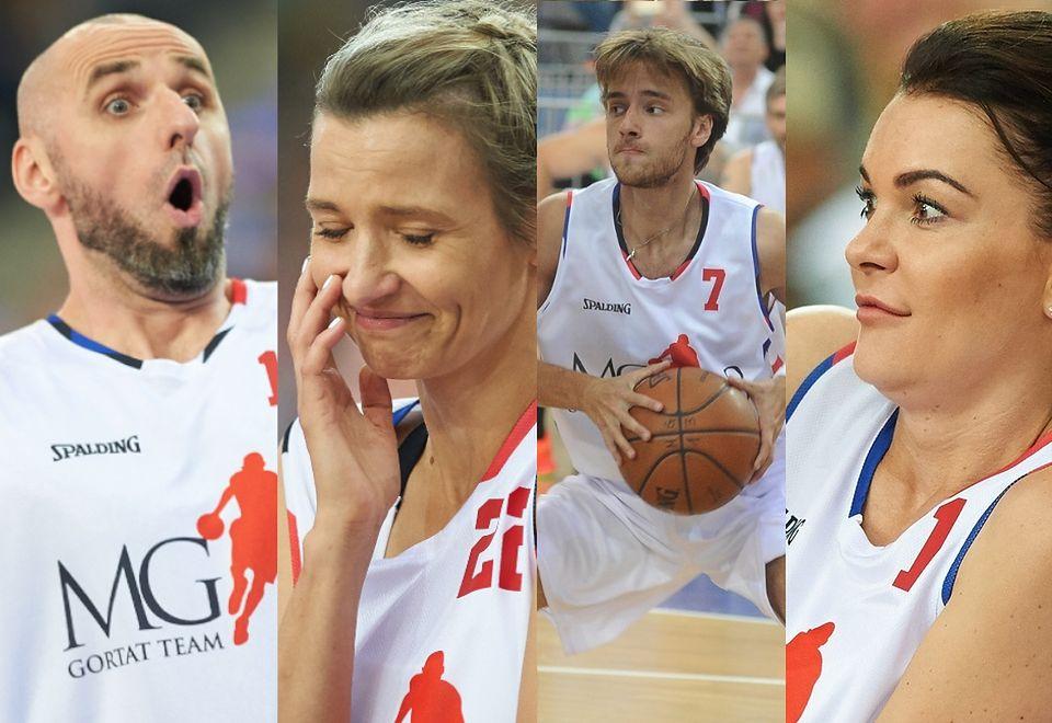 2Celebryci na charytatywnym meczu koszykówki