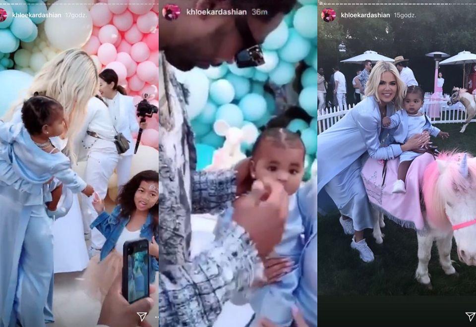 2Tak wyglądały pierwsze urodziny córki Khloe Kardashian