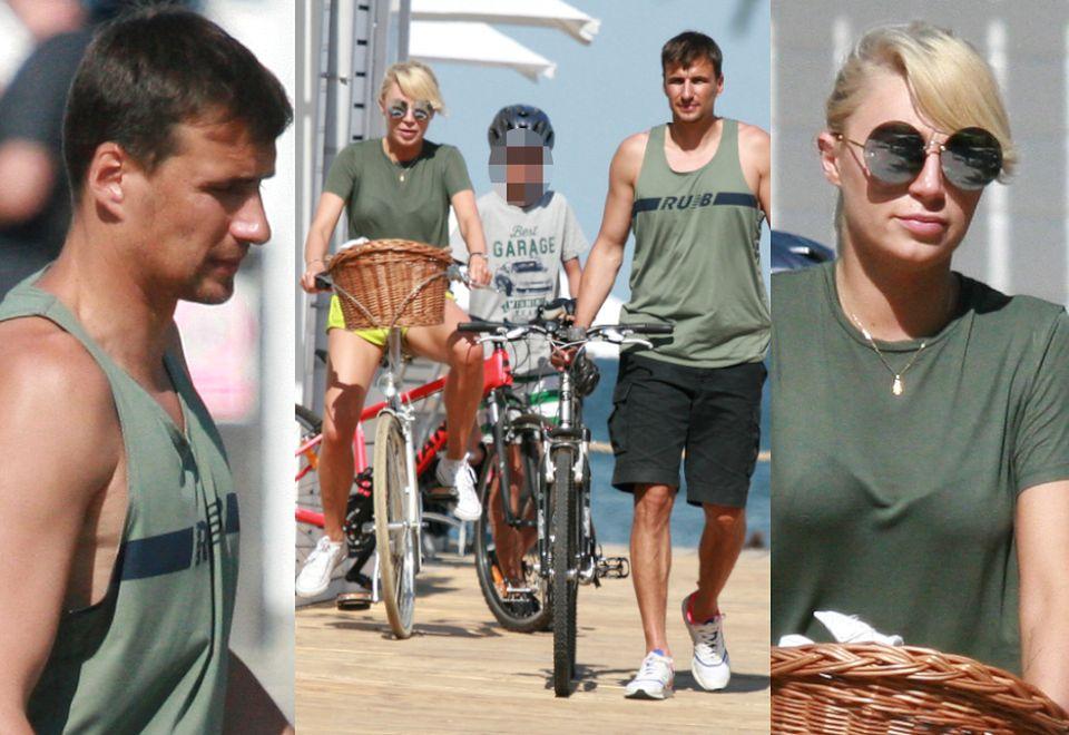 2Jarosław Bieniuk zabrał Martynę Gliwińską i syna na rowery do Sopotu